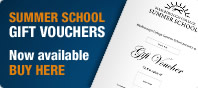 Summer School Gift Vouchers now available online